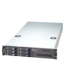 SX266 industrial server - total view 2 HE 6 times hot swap hdd, dvd, buttons for easy opening