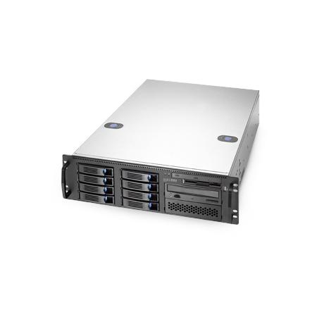 SX368 - total view with 8x hotswap 3 HE High-End Industrie Server Intel Xeon 8. Gen. oder Cascade Lake